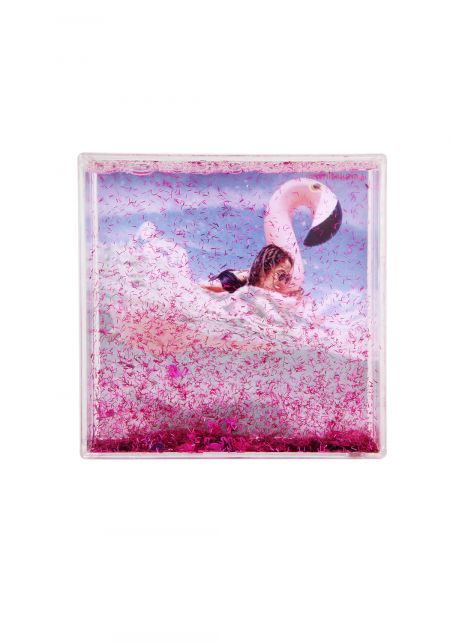 Sunnylife Flamingo Glitter Square Picture Frame