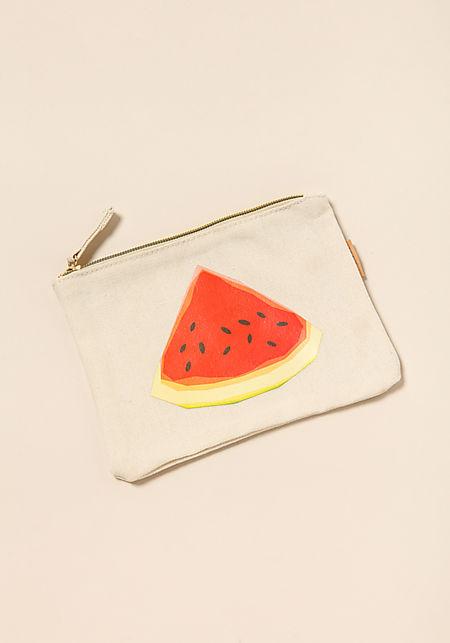 Beige Watermelon Pouch Bag