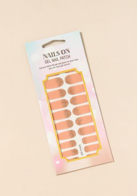 Gold and Pink Gel Nail Polish Strips
