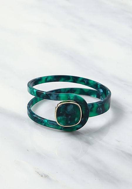 Green Resin Cut Out Bracelet
