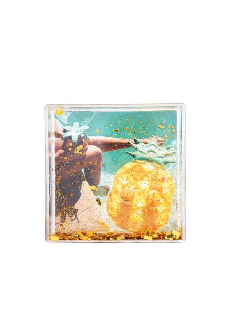 Sunnylife Yellow Glitter Square Picture Frame