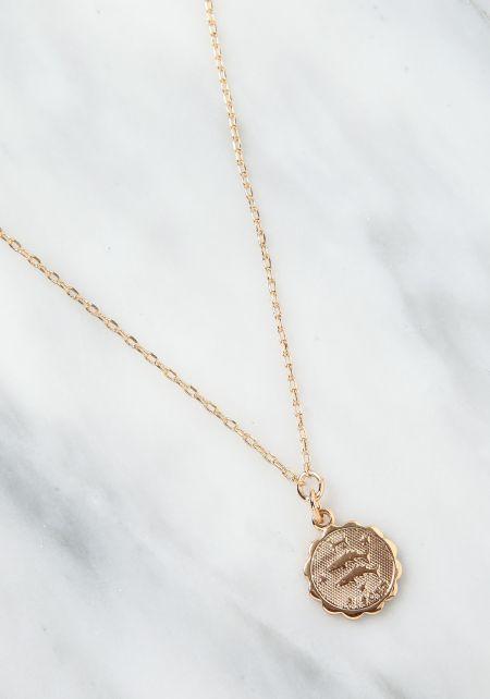 Gold Pisces Zodiac Choker
