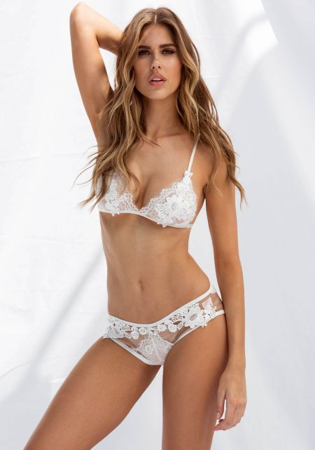 White Floral Lace Cheeky Panty