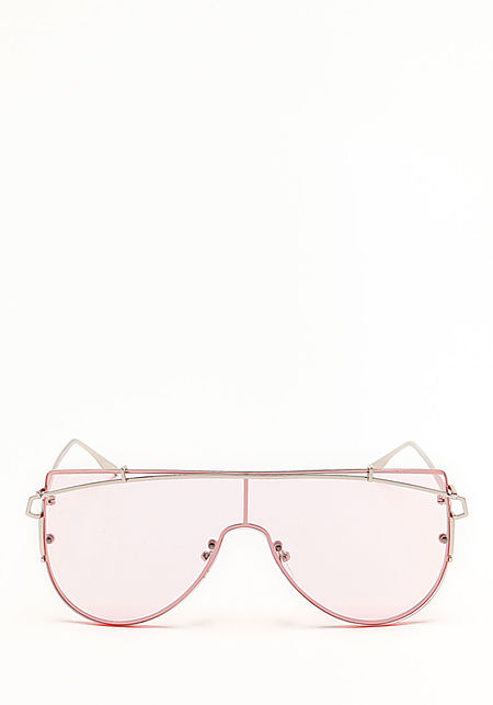 Zero UV Pink Flat Top Shield Sunglasses