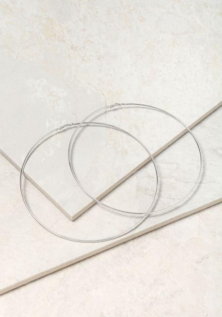 Silver XXL Hoop Earrings