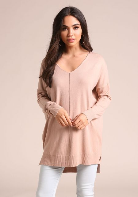Dusty Pink Soft Knit Sweater Top