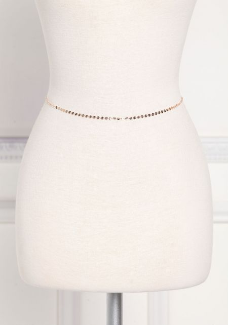 Rose Gold Thin Waist Body Chain