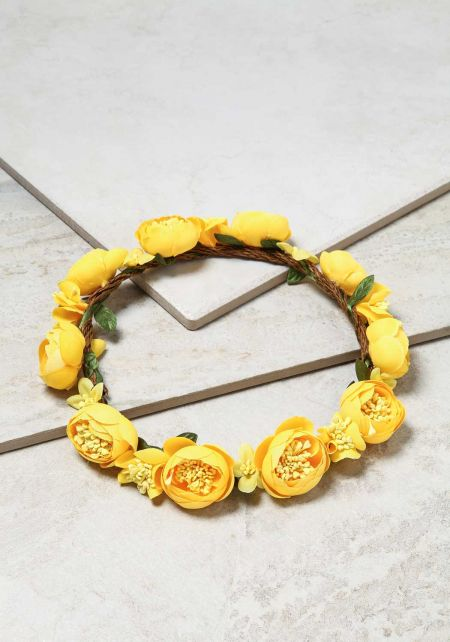 Yellow Tulips Headpiece