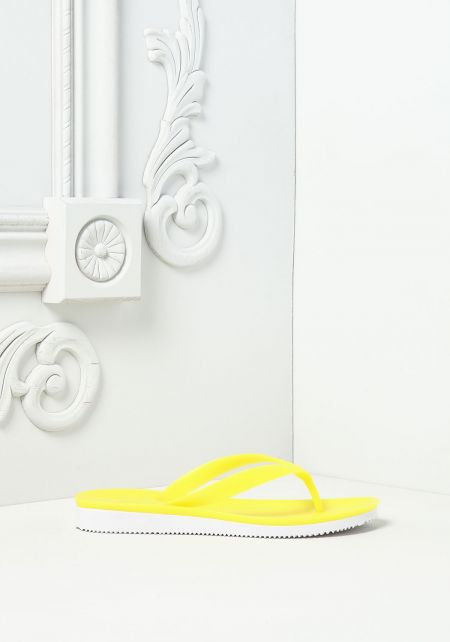 Yellow Neon Thong Sandals