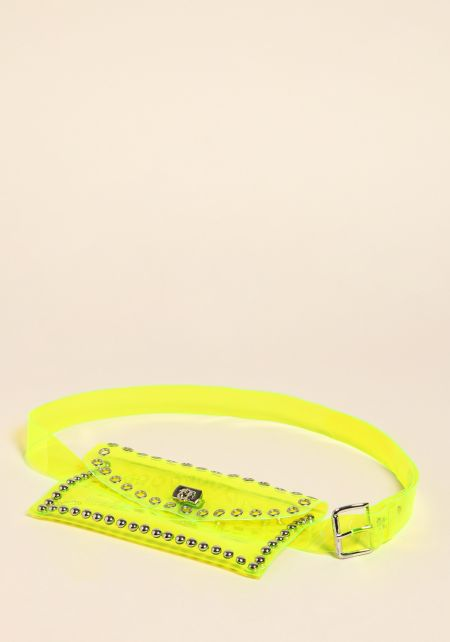 Neon Yellow Studded Fanny Belt