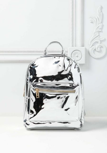 Silver Chrome Backpack
