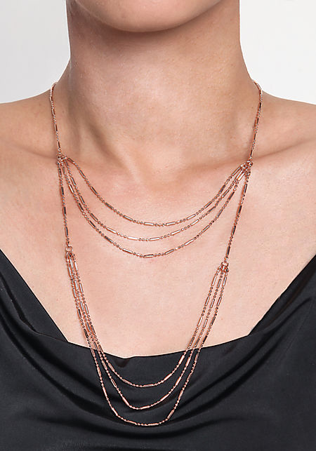 Rose Gold Layered Delicate Necklace