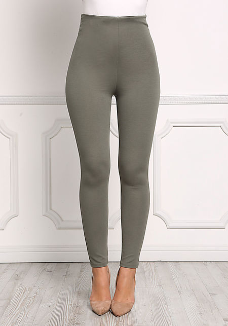 Olive High Rise Skinny Pants