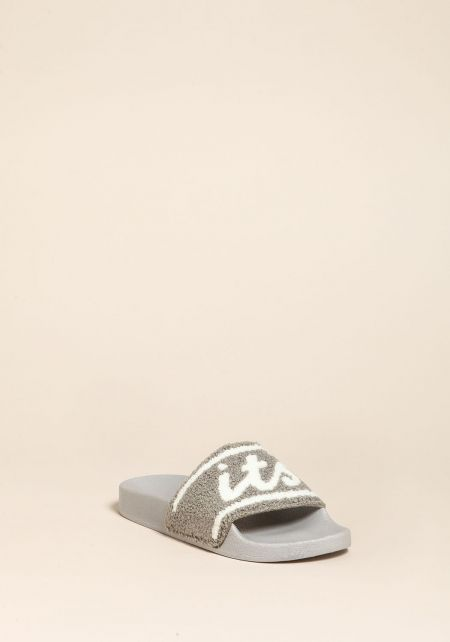 Grey Its Lit Slide Sandals