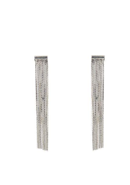 Silver Chain Fringe Earrings