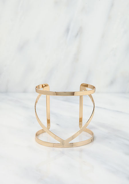 Gold Curved Arm Cuff