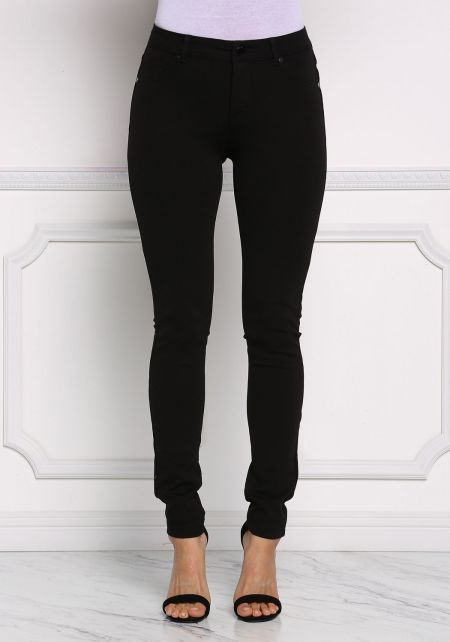 Black Mid Rise Stretchy Pants