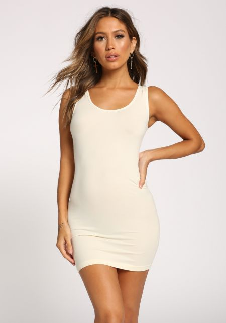 Ivory Scoop Seamless Tank Dress