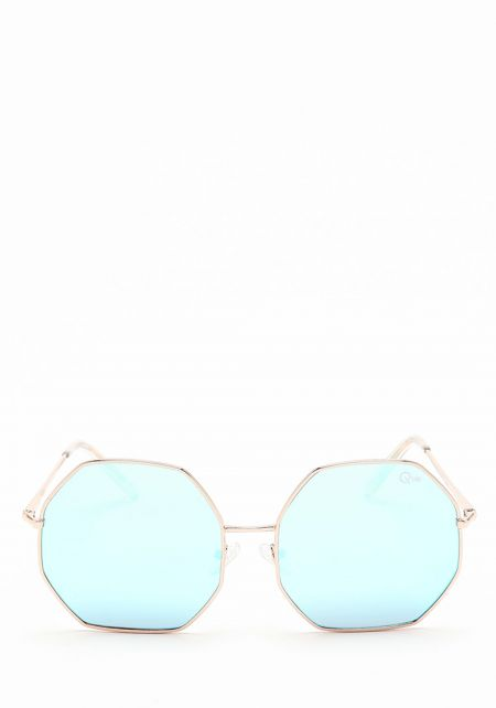 Quay Kiss & Tell Sunglasses in Blue