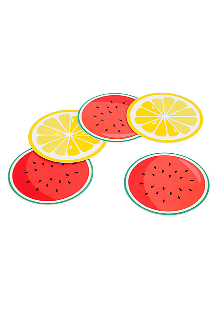 Sunnylife Fruit Salad Reversible Coasters