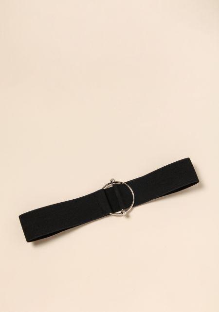 Black Elastic Hoop Belt