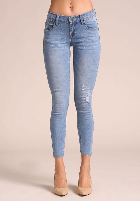 Light Denim Ankle Skinny Jeans