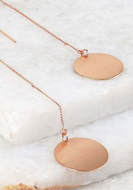 Rose Gold Round Hook Earrings
