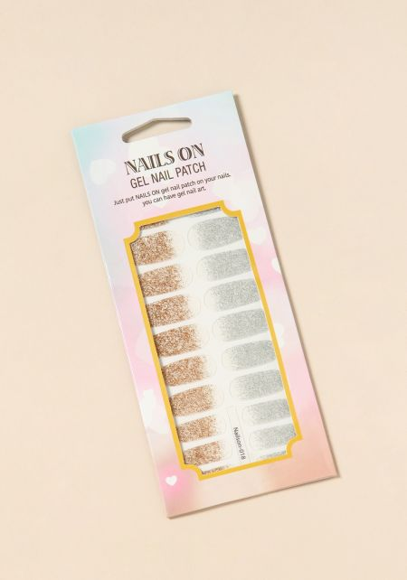 Gold and Silver Gel Nail Polish Strips