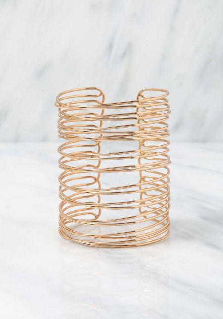 Gold Multi Wire Cuff Bracelet