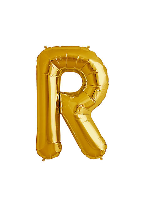 R Xtra Large Gold Foil Balloon