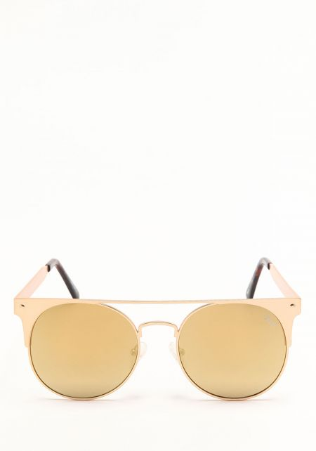 Quay The In Crowd Sunglasses in Gold