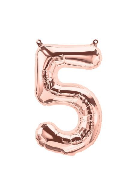 No. 5 Rose Gold Foil Balloon