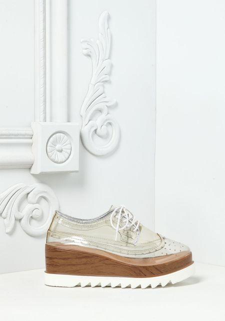 Clear Platform Sneakers