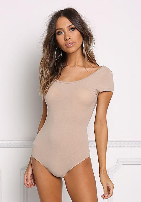 Nude Basic Tee Bodysuit