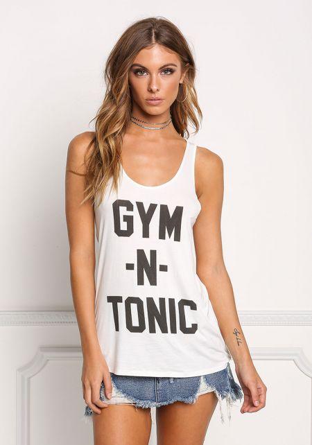 White Gym N' Tonic Tank Top