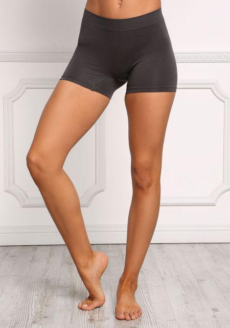 Charcoal Stretch Yoga Shorts