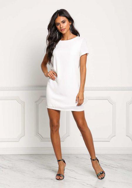 Off White Boxy Shift Dress