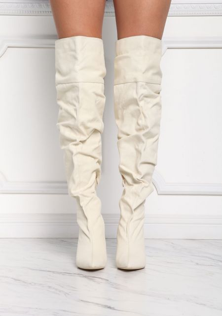 Cape Robbin Canvas Over The Knee Boots