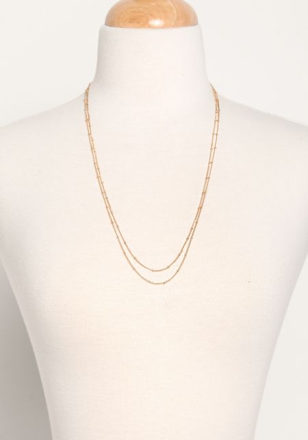Gold Two In One Thin Layered Belly Chain & Necklac