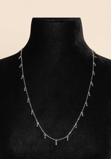 Silver Two In One Thin Belly Chain & Necklace