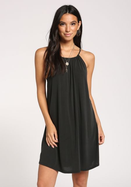 Black Tank Shift Knit Dress