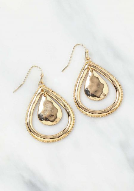 Gold Mini Teardrop Earrings