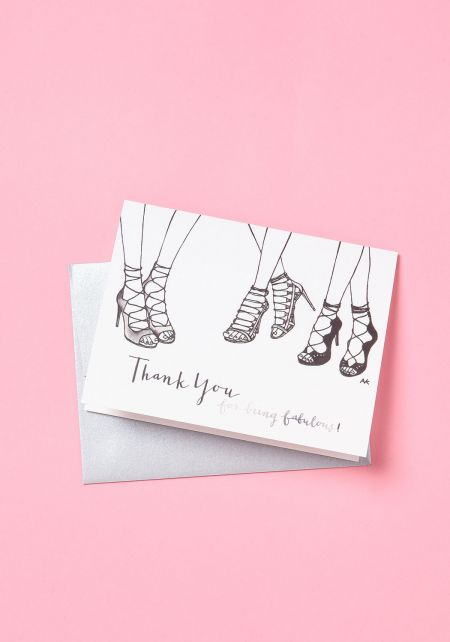 Lace Up Shoes Thank You Card