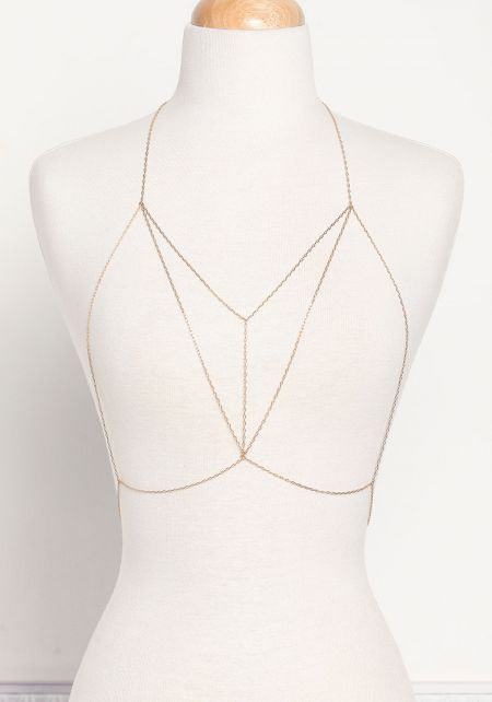 Gold Thin Minimalist Body Chain