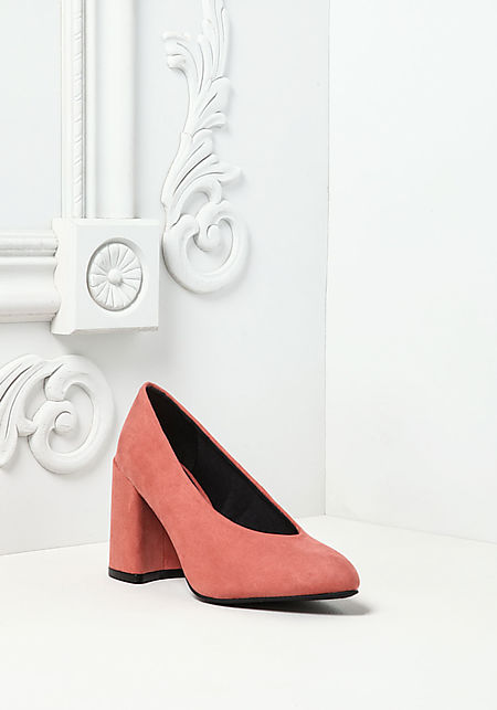 d60c42235890 Dusty Rose Suedette Pointed Toe Heels ...