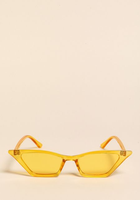 Yellow Sharp Cat Eye Sunglasses
