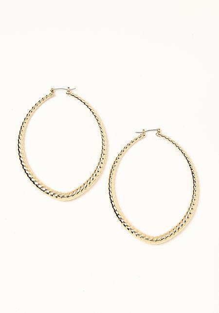 Gold Swirl Teardrop Earrings
