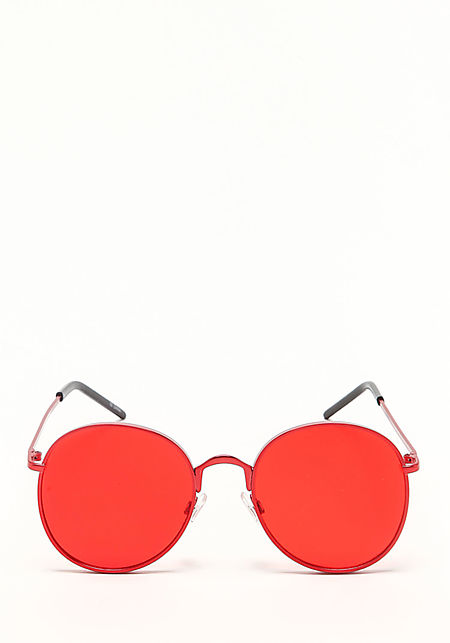 Zero UV Red Round Aviator Sunglasses