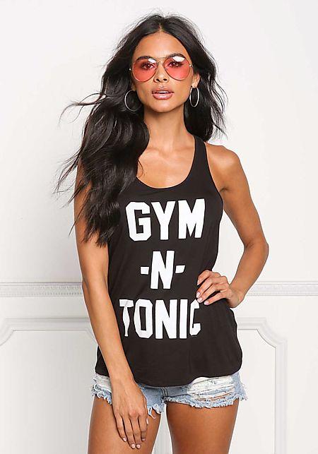 Black Gym N' Tonic Tank Top