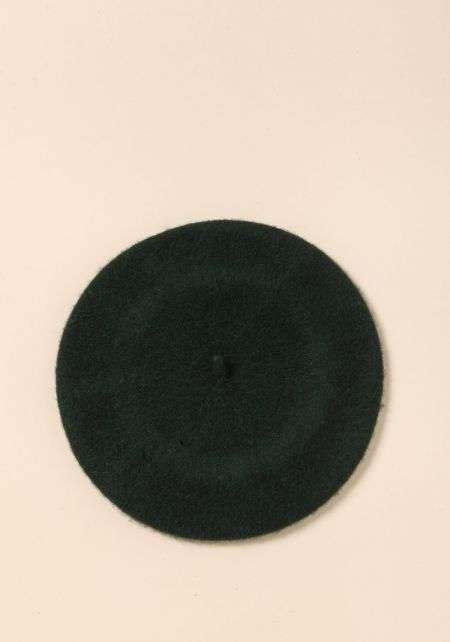 Hunter Green Felt Beret